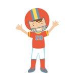 Carácter del jugador de fútbol americano Imagen de archivo libre de regalías