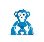 Carácter del mono del robot ilustración del vector