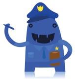 Carácter del monstruo del poli de tráfico Imagen de archivo