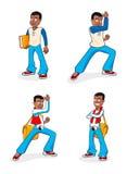 Carácter del muchacho de la historieta Imagen de archivo