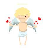 Carácter del muchacho del ángel Imagen de archivo