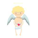 Carácter del muchacho del ángel Fotos de archivo