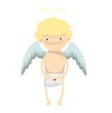 Carácter del muchacho del ángel Foto de archivo