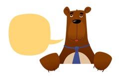 Carácter del oso del comerciante Fotografía de archivo libre de regalías