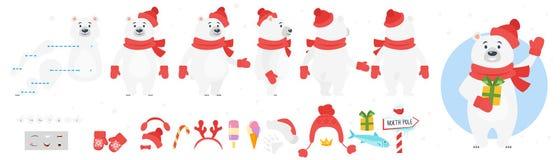 Carácter del oso polar para la animación libre illustration