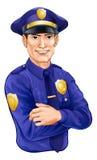 Carácter del policía Fotografía de archivo libre de regalías