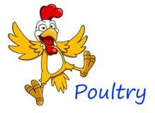 Carácter del pollo de la historieta Foto de archivo libre de regalías