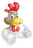 Carácter del pollo de la historieta Fotos de archivo