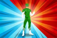 Carácter del superhéroe Foto de archivo libre de regalías
