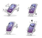 Carácter del teléfono móvil stock de ilustración