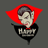 Carácter del vampiro de Drácula Halloween de la cuenta del vector Imagen de archivo libre de regalías