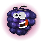 Carácter divertido de Blackberry para Jelly Label stock de ilustración