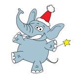 Carácter divertido del vector del elefante en un blanco Fotografía de archivo libre de regalías