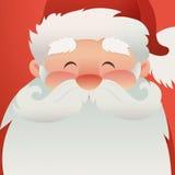 Carácter feliz de Santa Claus para diseñar banderas, las postales, los aviadores y más Ejemplo con el feliz personaje de Christma Imagen de archivo