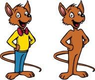 Carácter feliz del ratón de la historieta Imagenes de archivo