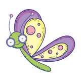 Carácter hermoso del vuelo de la mariposa libre illustration