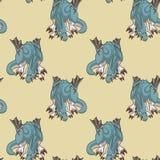 Carácter inconsútil del dragón en modelo del estilo de la historieta ilustración del vector
