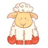 Carácter lindo de las ovejas del símbolo chino del Año Nuevo