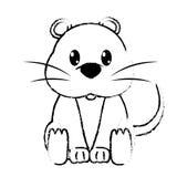 Carácter lindo del animal salvaje del ratón del Grunge Fotografía de archivo