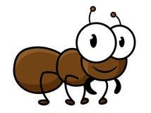 Carácter marrón lindo de la hormiga de la historieta Foto de archivo