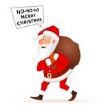 Carácter plano de Santa Claus aislado en el fondo blanco Imagenes de archivo