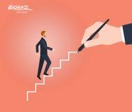 Carácter plano mínimo de los ejemplos del concepto del consejero de negocio libre illustration