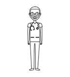 Carácter profesional del avatar del doctor ilustración del vector