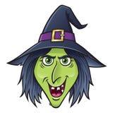 Carácter sonriente de la bruja de Halloween Imagen de archivo
