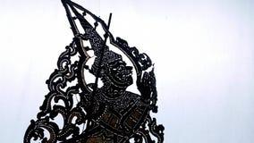 Carácter tailandés de la demostración del teatro de la sombra Foto de archivo libre de regalías