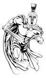 Carácter troyano de la mascota Fotos de archivo
