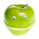 Carácter verde de Apple Fotos de archivo