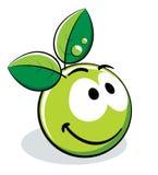 Carácter verde de la manzana Imágenes de archivo libres de regalías