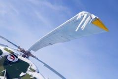 Carámbano en el helicóptero del tornillo Fotografía de archivo libre de regalías
