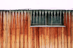 Carámbanos Foto de archivo libre de regalías