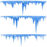 Carámbanos azules Fotografía de archivo libre de regalías