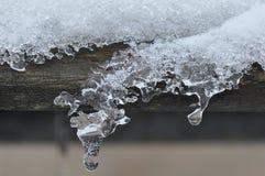 Carámbanos del hielo Fotografía de archivo