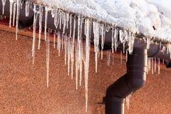 Carámbanos del invierno Fotos de archivo