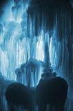 Carámbanos enormes del hielo Imagenes de archivo