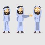 Caráter árabe ilustração royalty free