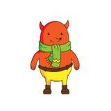 Caráter alegre da raposa dos desenhos animados Imagens de Stock