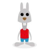 Caráter animal engraçado dos desenhos animados isolado Ilustração Stock
