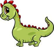 Caráter bonito da fantasia do dragão dos desenhos animados Fotos de Stock Royalty Free