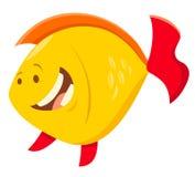 Caráter bonito do animal dos peixes dos desenhos animados Fotos de Stock
