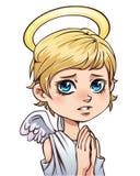 Caráter bonito do anjo Fotos de Stock Royalty Free