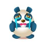 Caráter bonito do urso dos desenhos animados de Panda Activity Illustration With Humanized que grita com os córregos dos rasgos ilustração do vetor