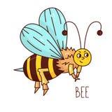 Caráter bonito do vetor de inseto da abelha imagens de stock royalty free
