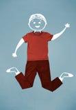 Caráter bonito engraçado do smiley na roupa ocasional Fotografia de Stock