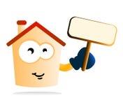 Caráter cómico de bens imobiliários Imagem de Stock