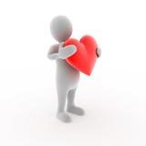 Caráter com coração Imagem de Stock