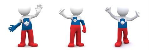caráter 3d textured com a bandeira de Eslovênia Foto de Stock